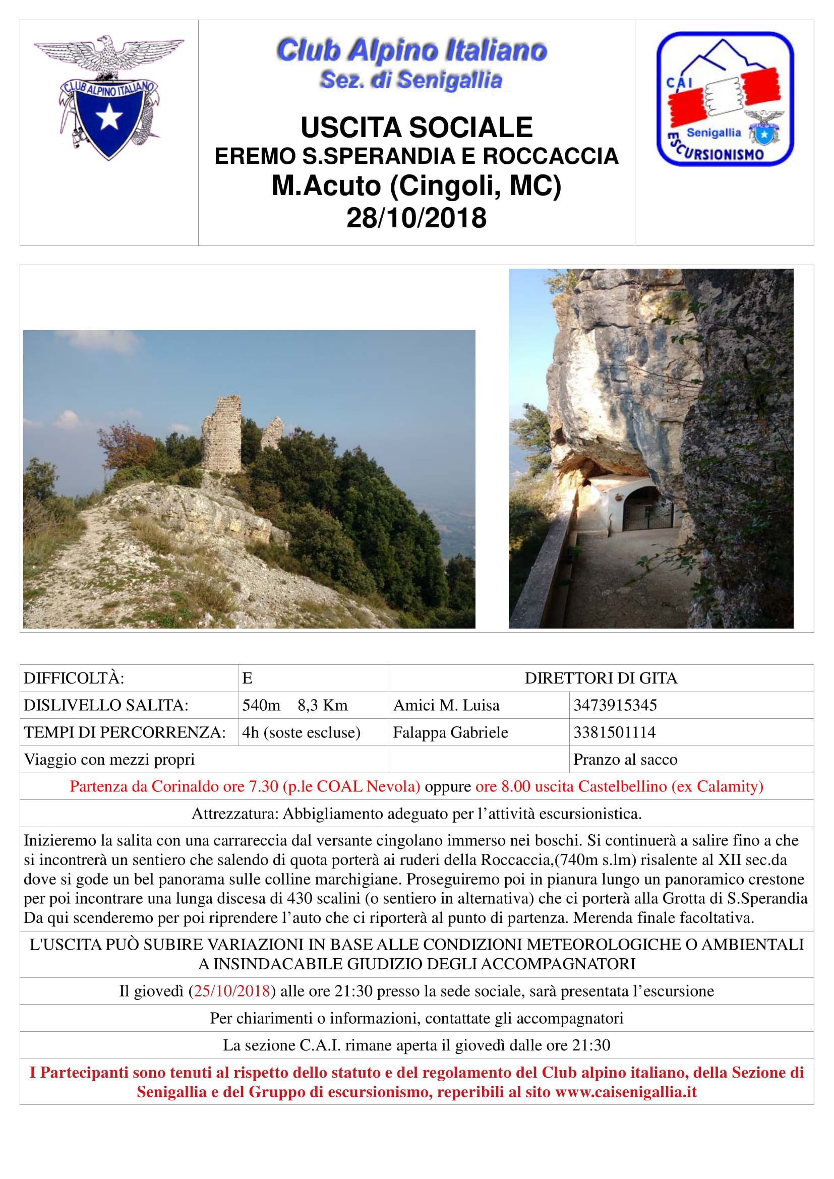 La Roccaccia - Grotte di Santa Sperandia