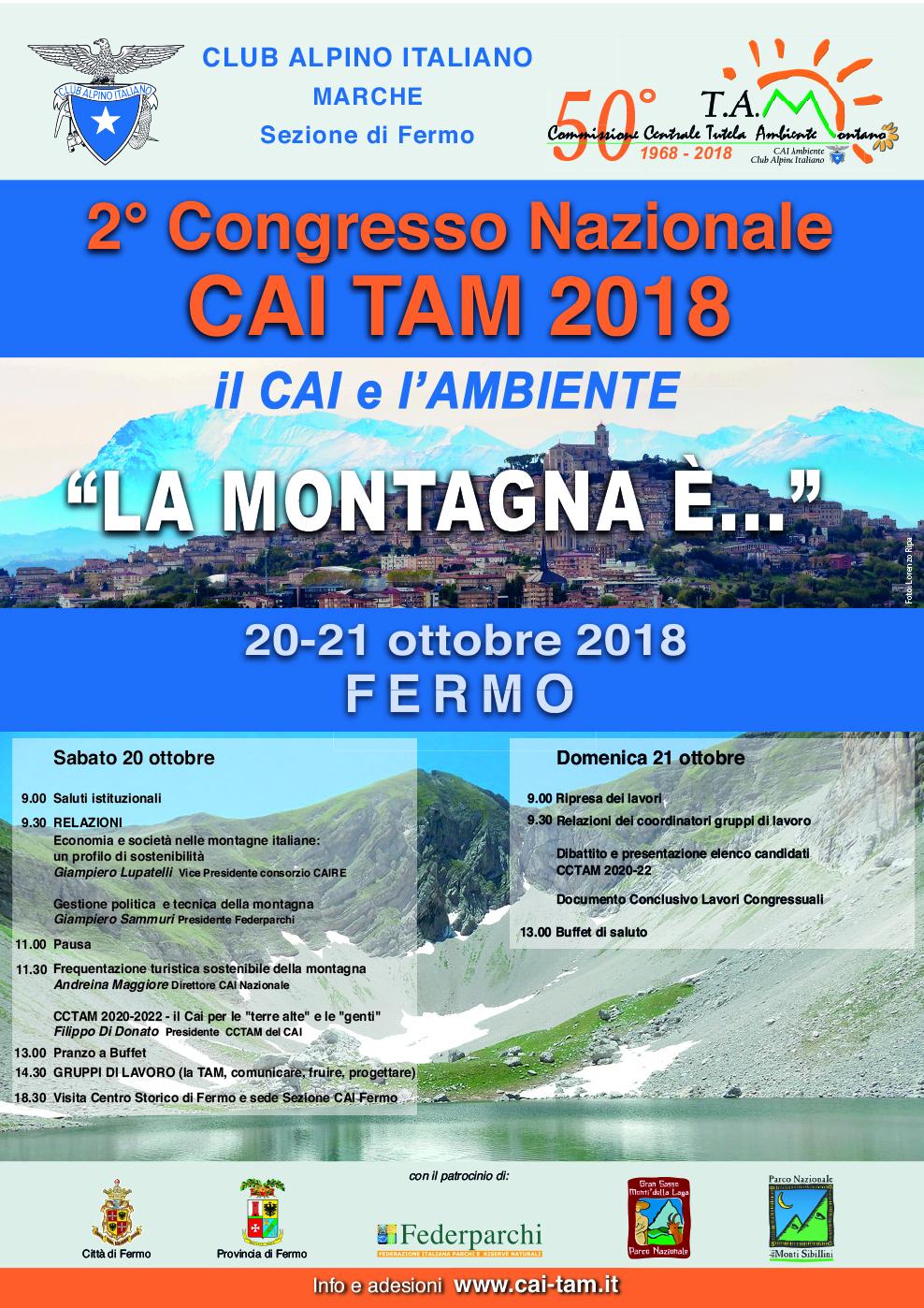 II ^ Congresso Nazionale TAM 20 e 21 Ottobre a Fermo @ Fermo