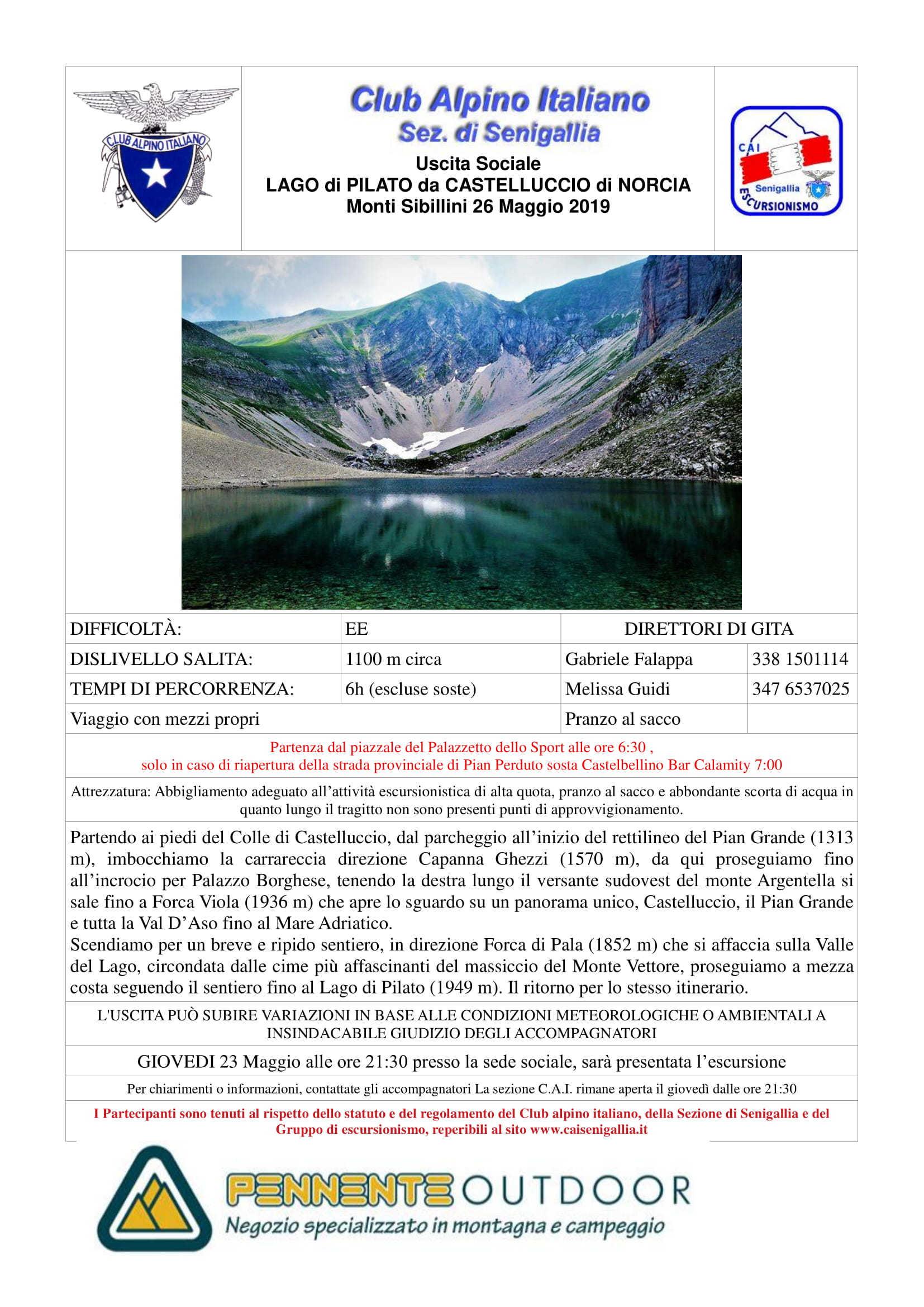 ANNULLATO - GE - Escursione al Lago di Pilato