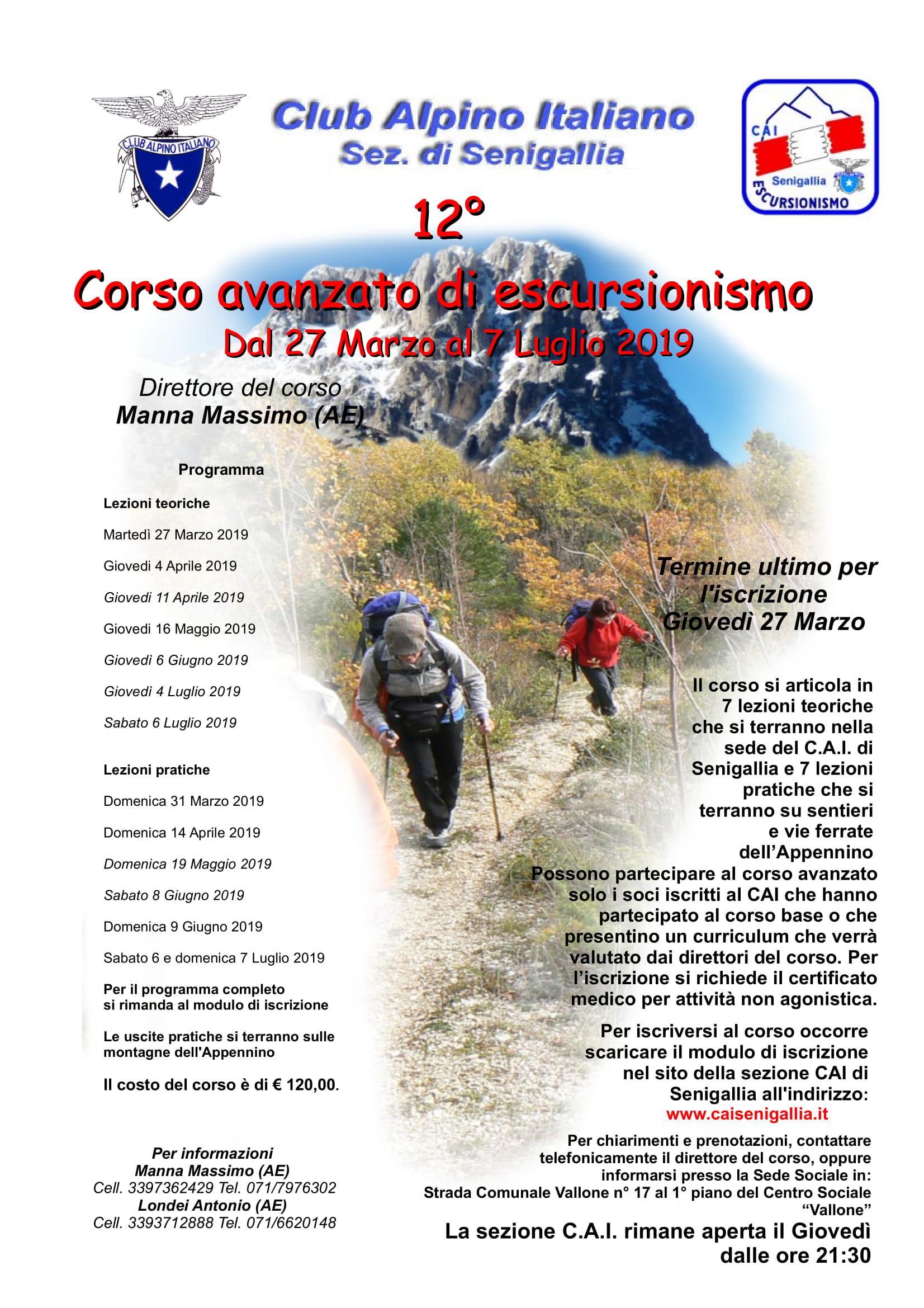 GE - CORSO AVANZATO DI ESCURSIONISMO (LEZIONI TEORICHE)